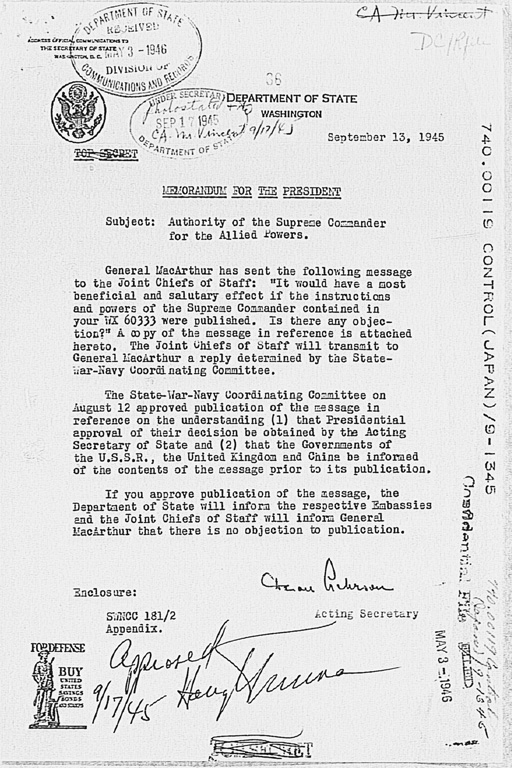 Memorandum For The President Subject Authority Of The Supreme