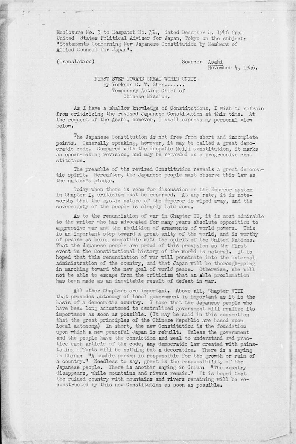 Subject statements concerning new japanese constitution by subject statements concerning new japanese constitution by members of allied council for japan yelopaper Images