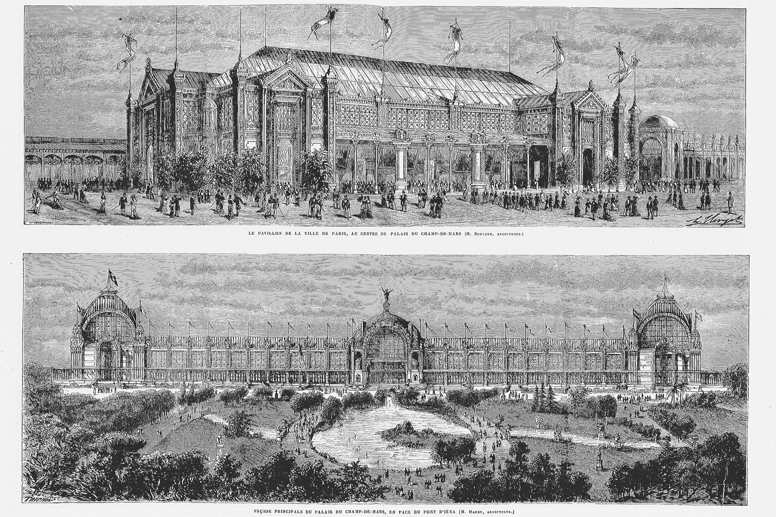 Paris city pavilion in champ de mars top and the main for Expo paris mars
