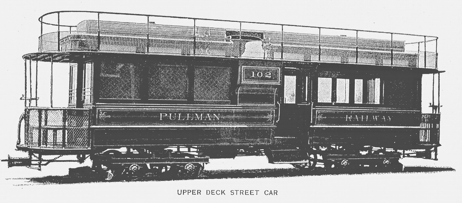 Streetcar Passenger Coach Made By Pullman Palace Car Co