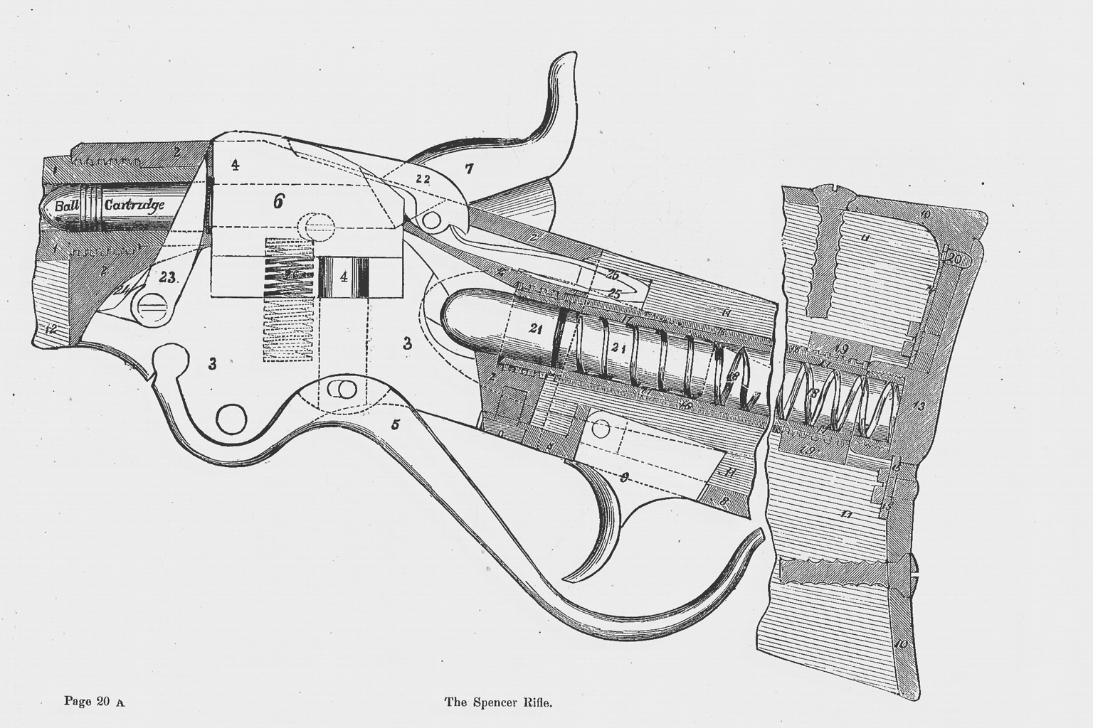 Breech-loading Repeating Gun Exhibited by Spencer Repeating