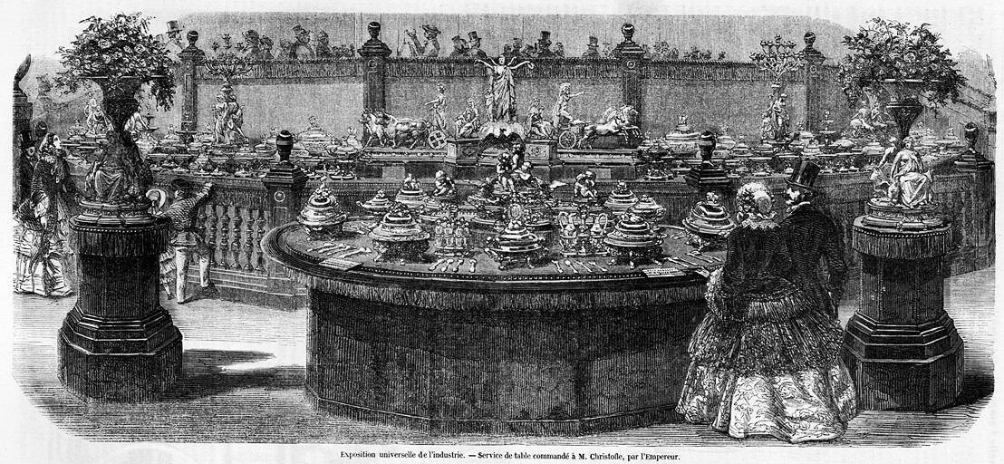 クリストフルの銀食器展示場(185...