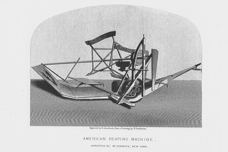 マコーミック社の刈取機(標準画像) | 博覧会―近代技術の展示場