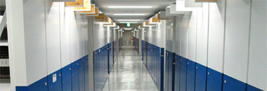 A picture of the electric compact shelving stacks