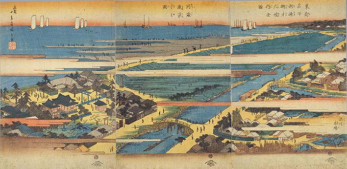 洲崎弁財天境内全図・同海浜汐干之図を新しいウィンドウで開きます。