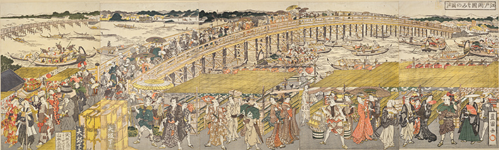 Edo Ryogoku suzumi no zu (Open in a new window)