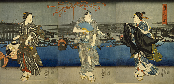Ryogoku yusuzumi no zu (Open in a new window)