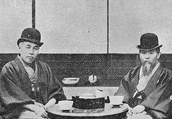 ITO Hirobumi and OKUMA Shigenobu, at ITO's villa in Oiso