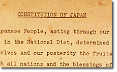 Constitution of Japan (GHQ Draft)