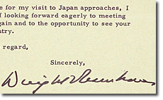 Letter from EISENHOWER to KISHI Nobusuke