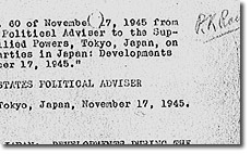 Political Parties in Japan: Developments during the Week Ending 17 November 1945