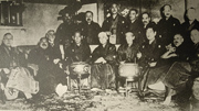 Prime Minister HARA and his cabinet ministers, Taisho period (1912-26) From (Hara Takashi Zenshu. Vol.2)