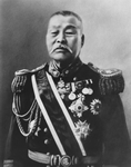 Naval Minister KABAYAMA Sukenori, made a speech condemning the Minto (populist parties) for stopping the funding of a new battleship From (Kinsei Meishi Shashin)