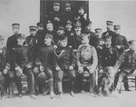 American, French, German, Italian, Japanese, Austrian military officers at the Peking International Club From (Hokushin Jihen Shashincho)