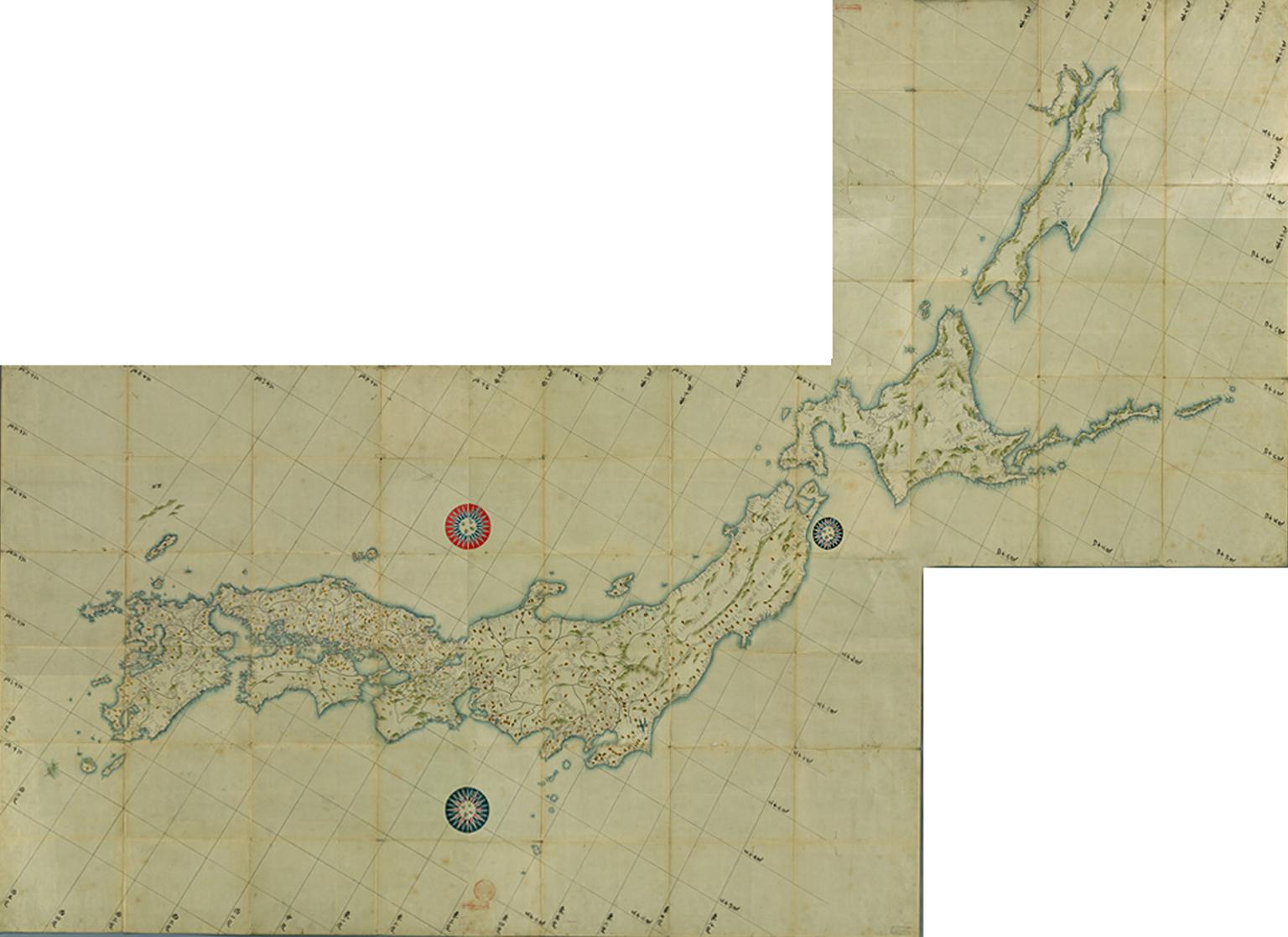 日本図(拡大画像 ezu35-36-37-38-39)